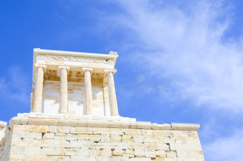 Temple d'Athena Nike, Athènes, Grèce image stock