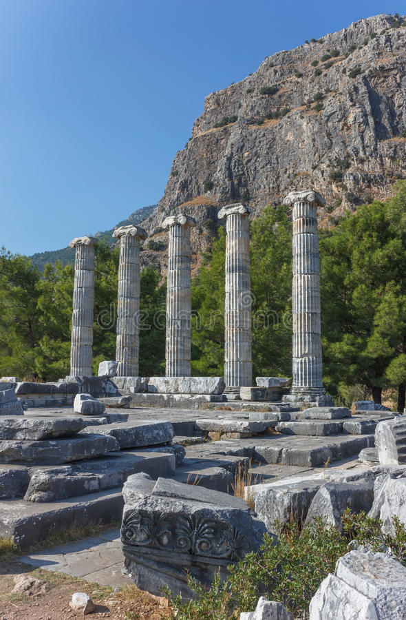 Temple d'Athena Polias 2 images stock