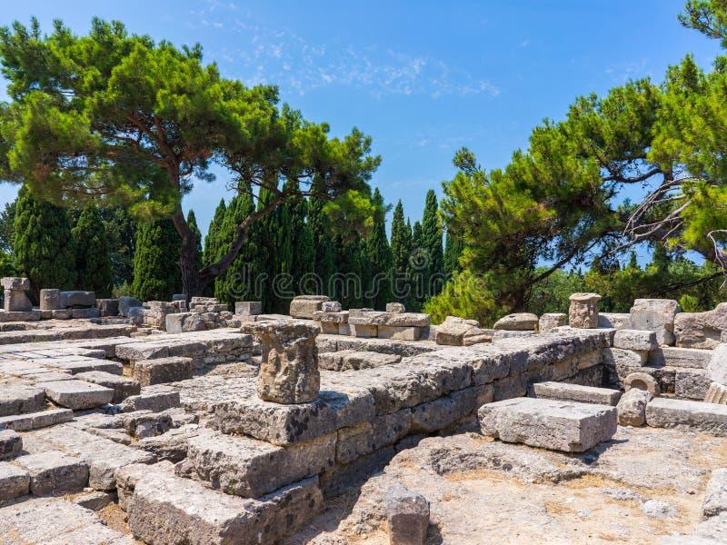 Temple d'Athena Polias photos stock