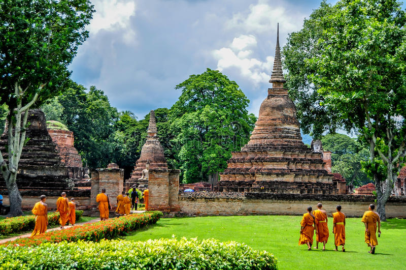 Temple d'Ayutthaya image libre de droits