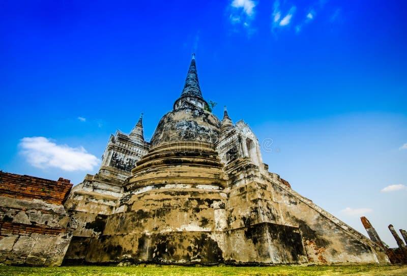 Temple d'Ayutthaya et site historique en Thaïlande photographie stock
