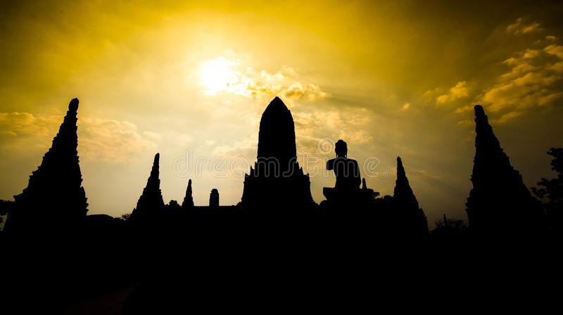 Temple d'Ayutthaya et site historique en Thaïlande images stock