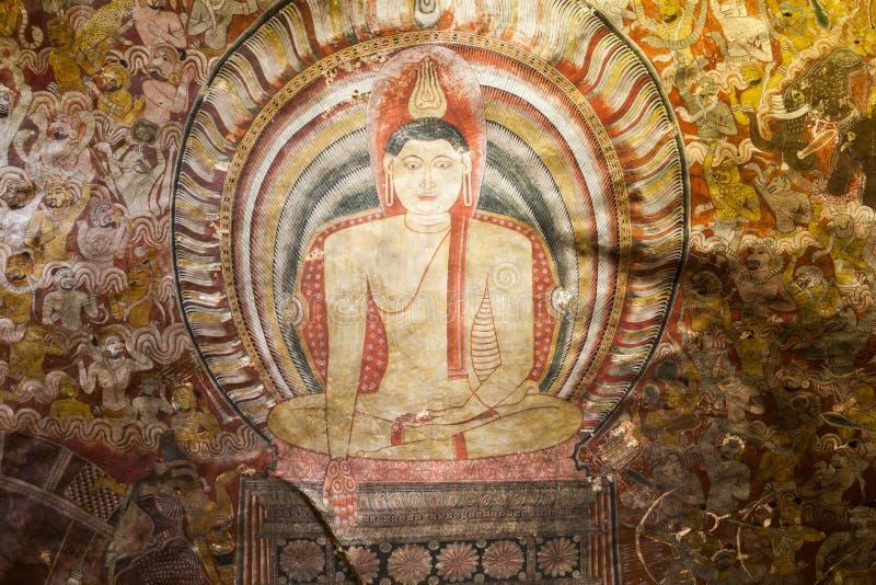 Temple d'or de caverne de Dambulla photos stock