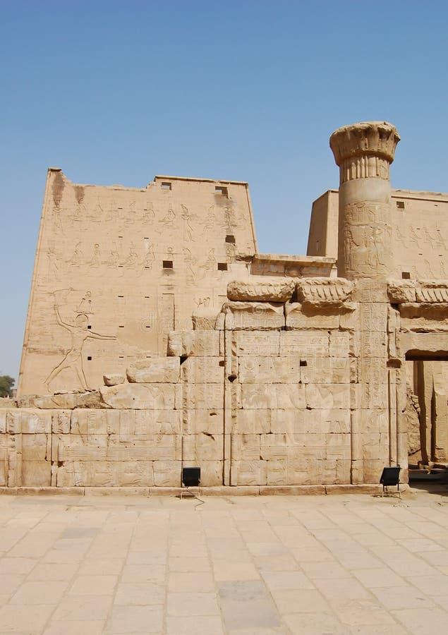 Temple d'Edfu, Egypte photos libres de droits