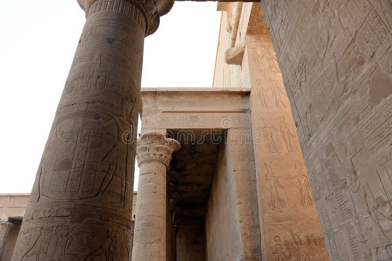 Temple d'Edfu en Egypte image libre de droits