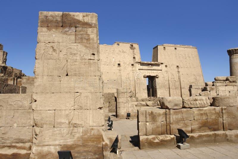 Temple d'Edfu en Egypte images libres de droits