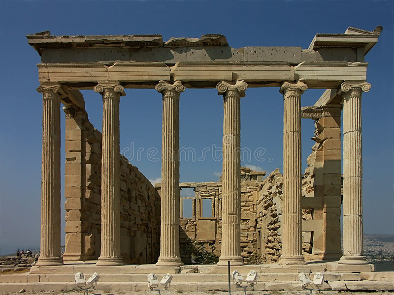Temple d'Erechteion image stock