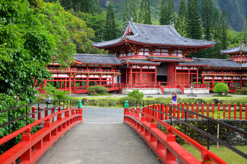 temple d'Hawaï o de byodo d'aho photos libres de droits