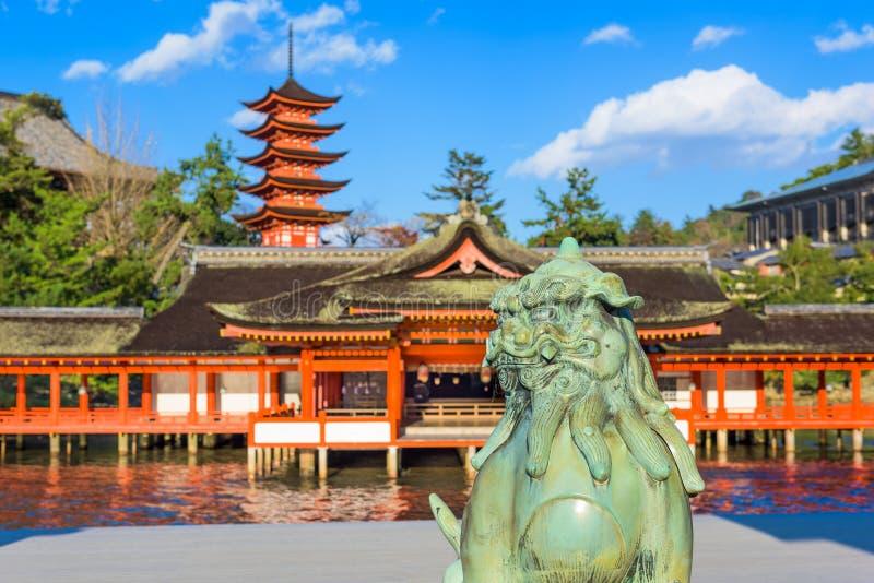 Temple d'Itsukushima photo libre de droits