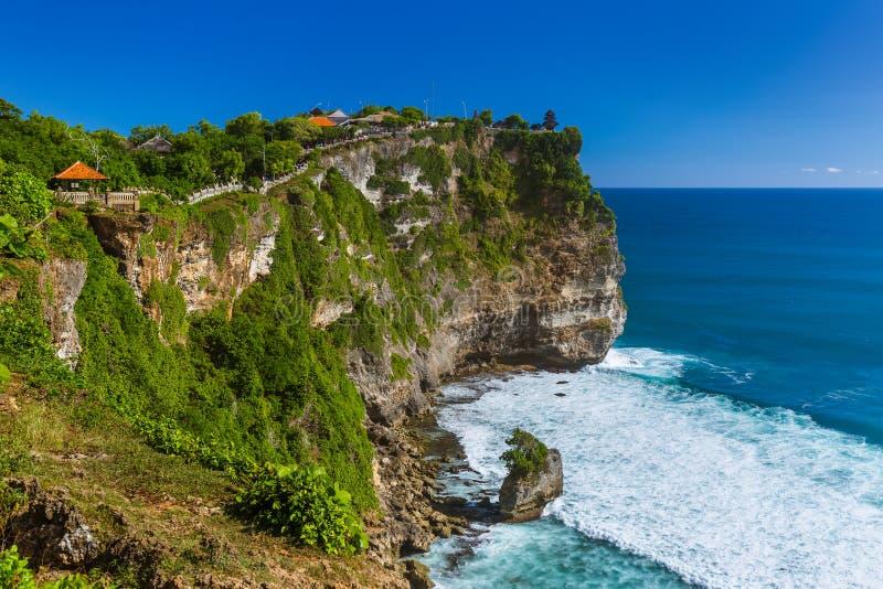 Temple d'Uluwatu dans Bali Indonésie image libre de droits