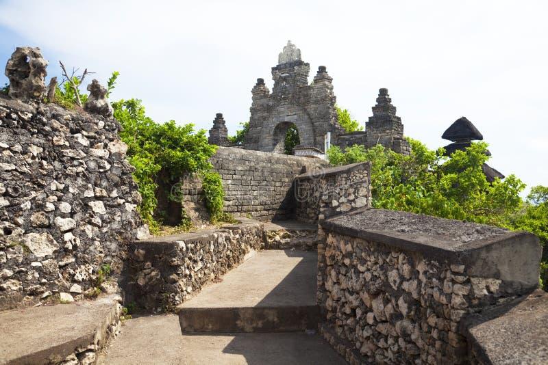 Temple d'Uluwatu, Uluwatu, Bali, Indonésie image libre de droits
