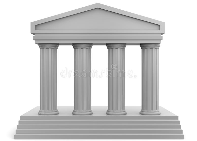 Temple - 3D. 3D Temple on white background vector illustration