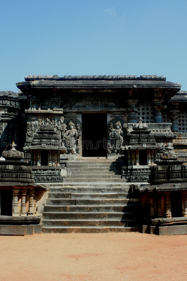 Temple dans Halebedu photo stock
