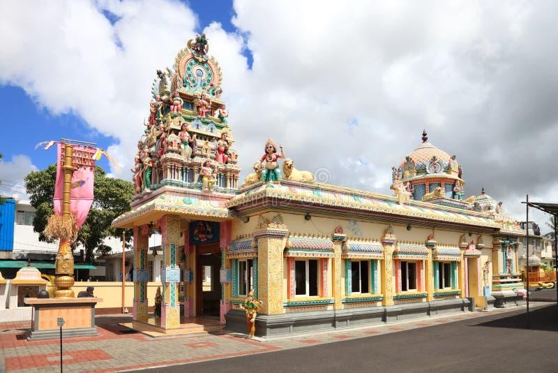 Temple dans la capitale Port Louis des Îles Maurice photographie stock