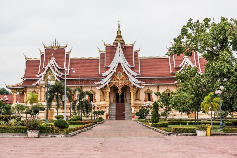 Temple dans Pha qui Luang photos libres de droits