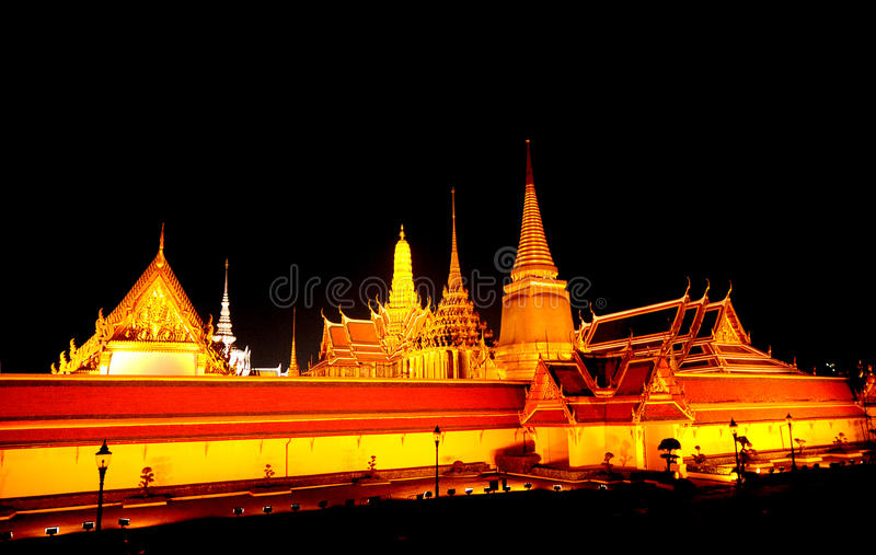 The Temple of Dawn, at night stock images