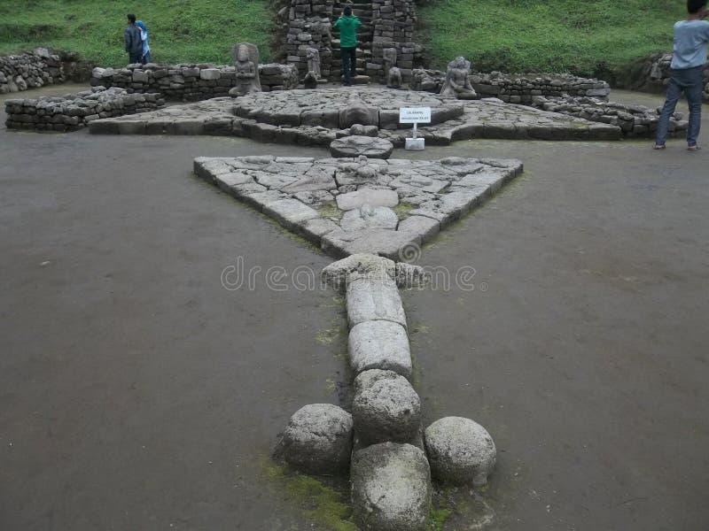 """Temple de """"Cetho """"dans Jawa Tengah, Indonésie images libres de droits"""