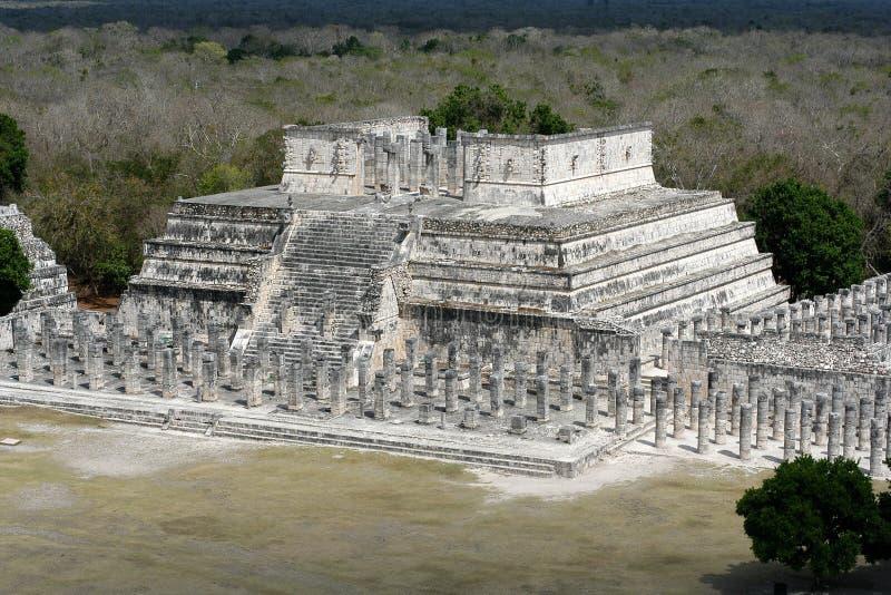 Temple de 1000 guerriers photographie stock