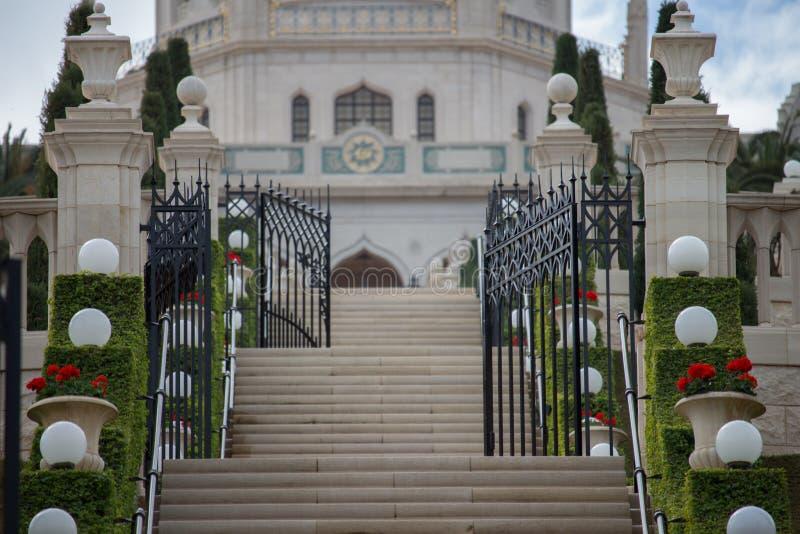 Temple de Bahai à Haïfa photos libres de droits
