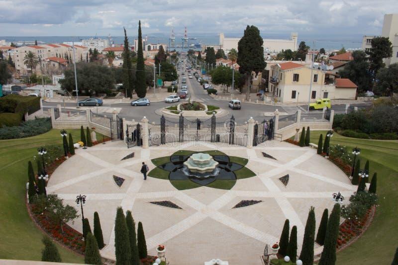 Temple de Bahai à Haïfa image stock