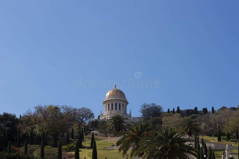 Temple de Bahai à Haïfa photo stock