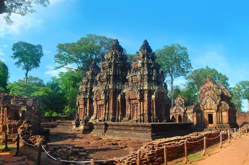 Temple de Banteai Srei le temple des femmes Angkor Vat Siem Reap Cambodge image stock