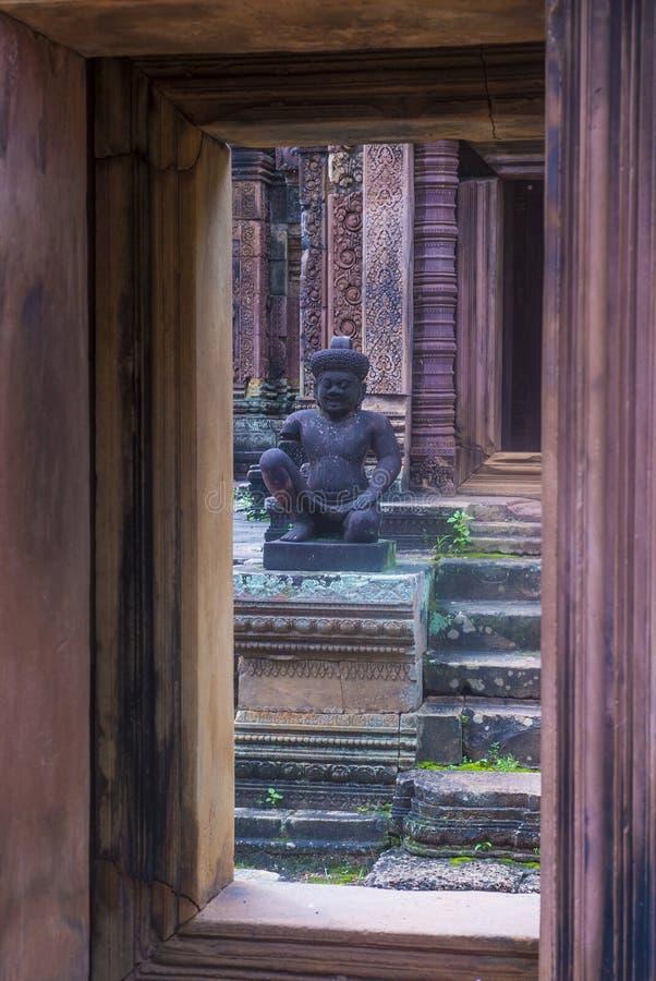 Temple de Banteay Srei au Cambodge photos stock