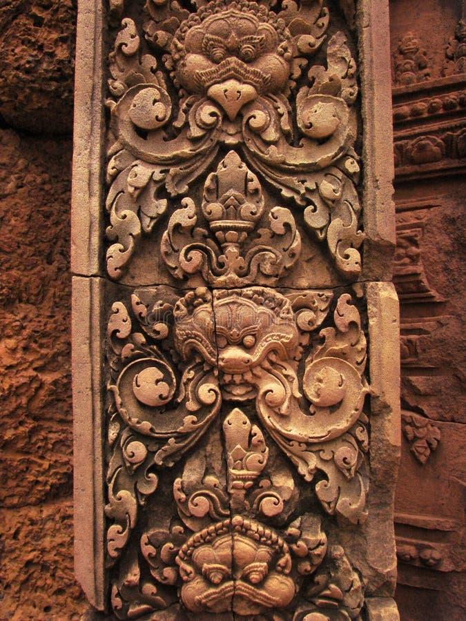 Temple de Banteay Srei près d'Angkor Wat, Cambodge. image libre de droits