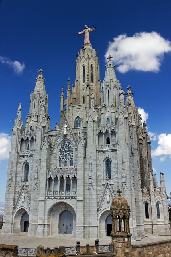 Temple de basilique du coeur sacré images stock