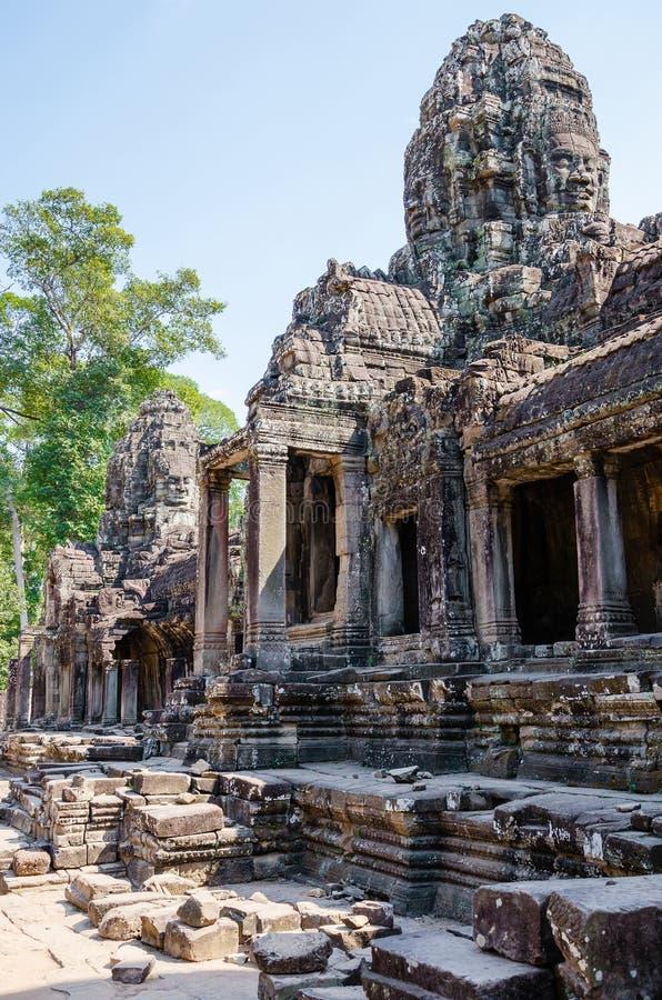 Temple de Bayon à Angkor Thom à la province de Siem Reap, Cambodge image libre de droits