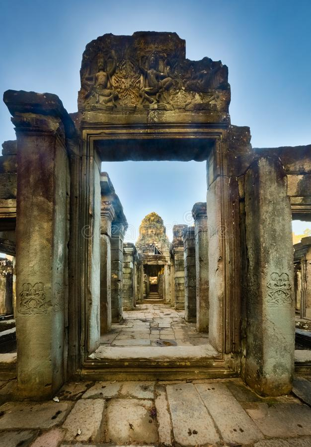 Temple de Bayon à Angkor Thom Le Cambodge cambodia image stock