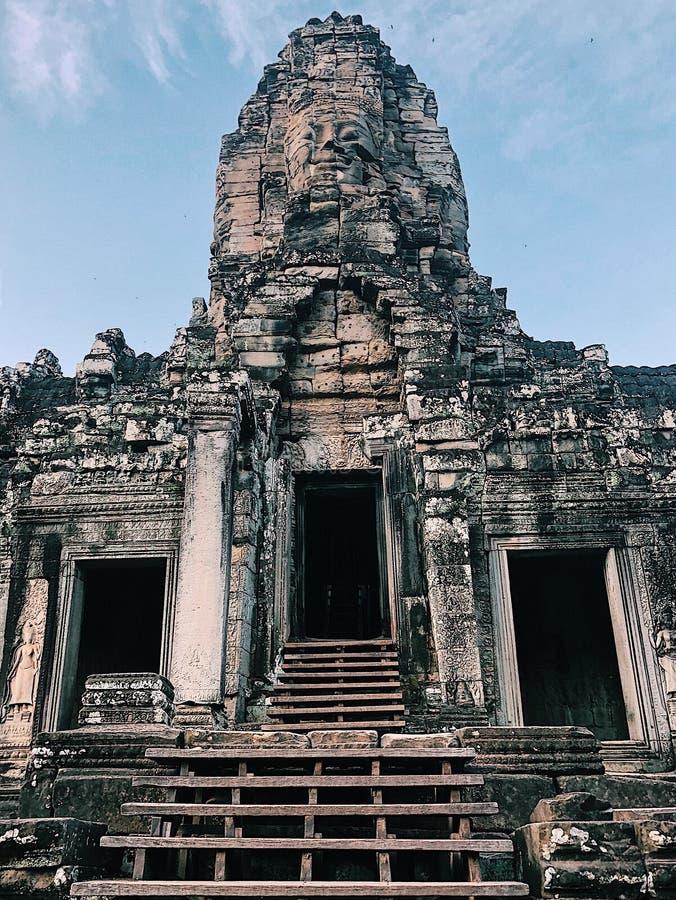 Temple de Bayon, Angkor Thom photographie stock