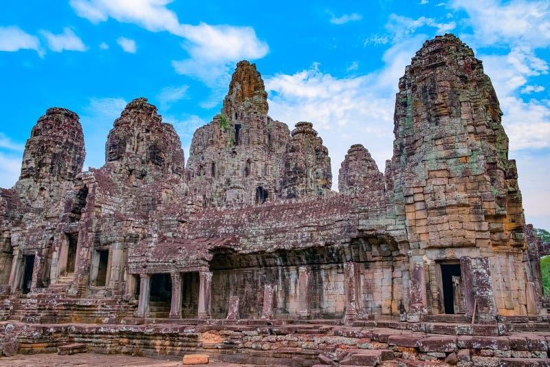 Temple de Bayon, Cambodia imagens de stock royalty free