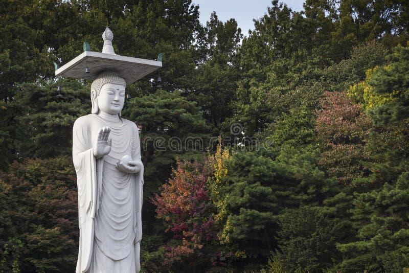Temple de Bongeunsa dans le district de Gangnam de Séoul, Corée photo stock