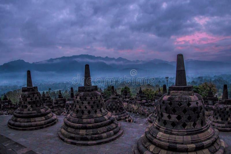 Temple de Borobudhur - Yogyakarta - Indonésie, l'UNESCO photos stock