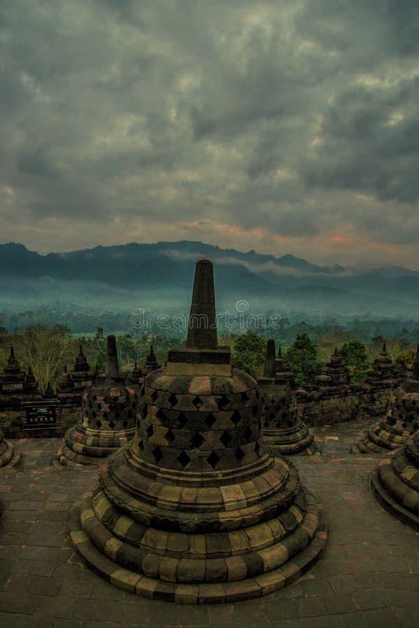 Temple de Borobudhur - Yogyakarta - Indonésie, l'UNESCO photographie stock libre de droits