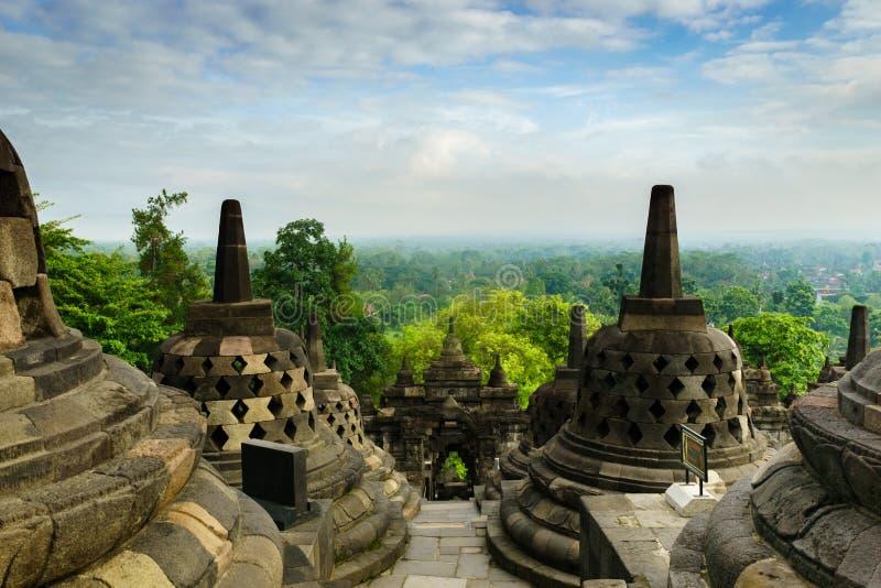 Temple de Borobudur à Yogyakarta, Java, Indonésie photos libres de droits