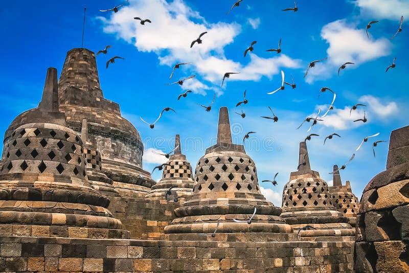 Temple de Borobudur dans Java image libre de droits