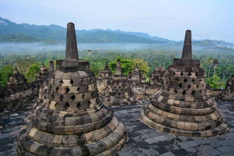 Temple de Borobudur en Java Island, Indonésie image libre de droits
