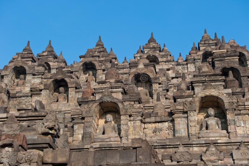 Temple de Borobudur, Java, Indonésie images libres de droits