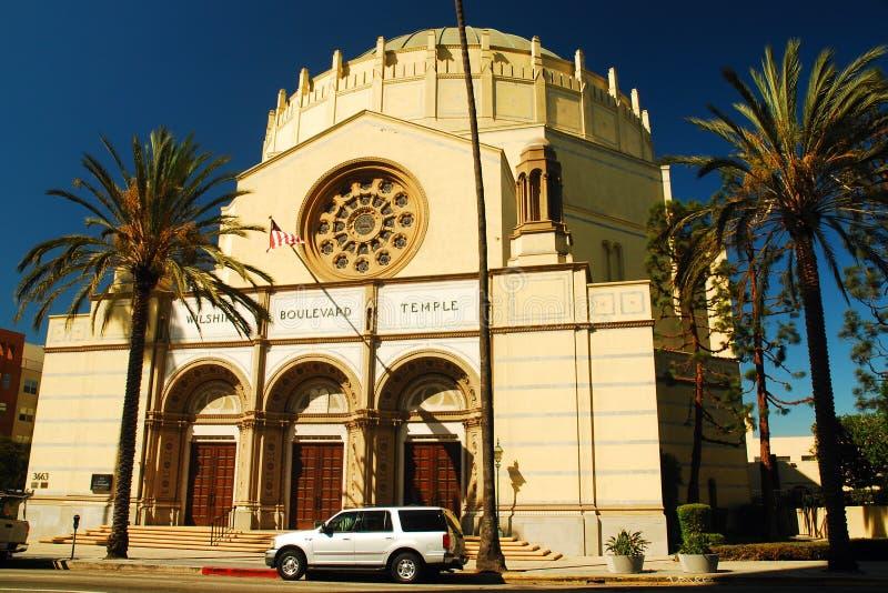 Temple de boulevard de Wilshire images libres de droits