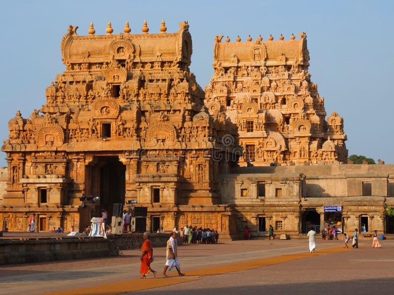 Temple de Brihadeshwara chez Thanjavur photographie stock
