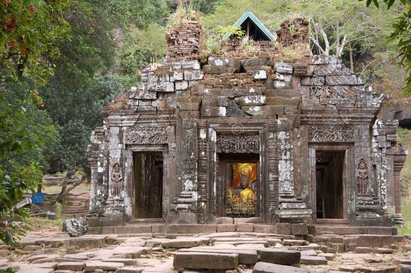 Temple de buddist de Wat Phu au Laos photographie stock libre de droits