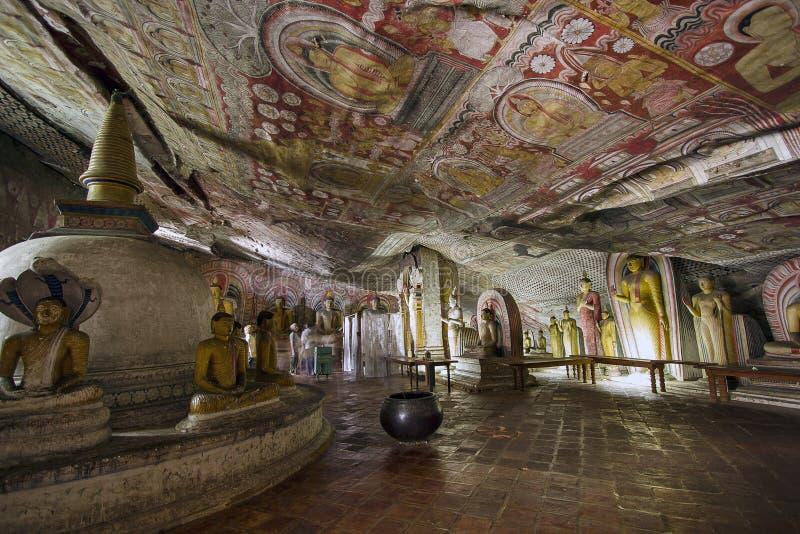 Temple de caverne de Dambulla photo libre de droits