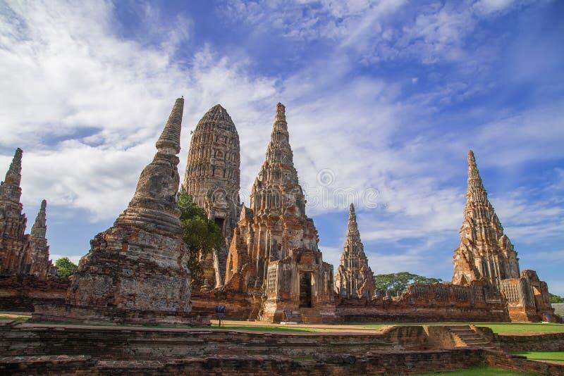 Temple de Chaiwattanaram images stock