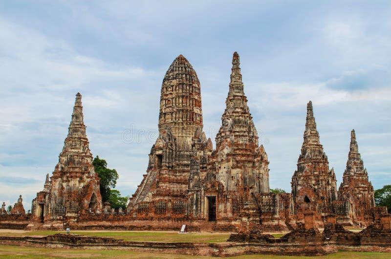 Temple de Chaiwatthanaram à Ayutthaya, Thaïlande image libre de droits