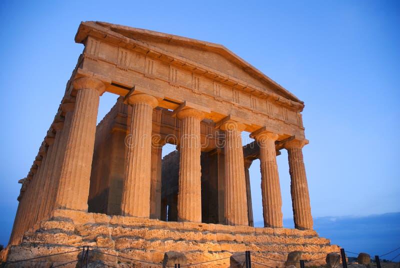 Temple de Concordia à Agrigente photos stock