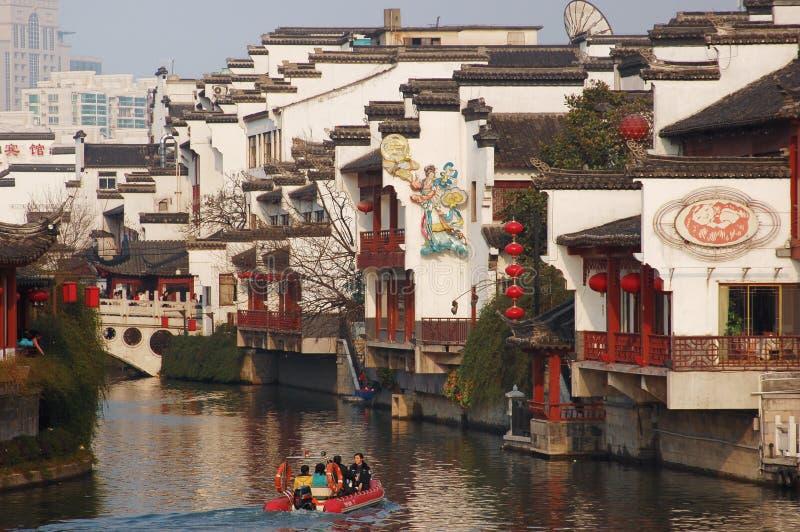 Temple de Confucius de ville de NanJing photographie stock