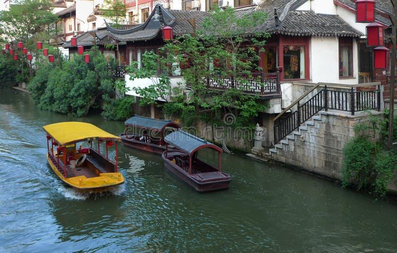 Temple de Confucius de ville de NanJing images stock