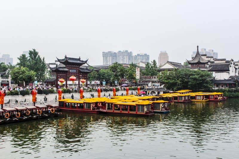 Temple de Confucius de ville de NanJing d'an neuf de la Chine photo libre de droits